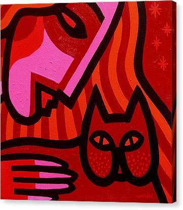 Nature Poster Art Canvas Print - Cat Woman by John  Nolan