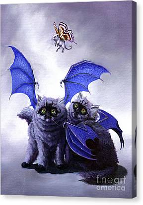 Catabat Snack Canvas Print by Stanley Morrison
