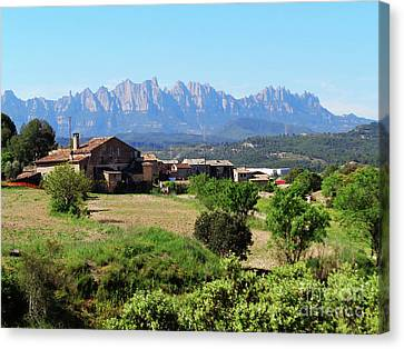 Catalan Landscape In Spring Canvas Print