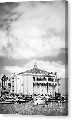 Catalina Casino Black And White Photo Canvas Print by Paul Velgos