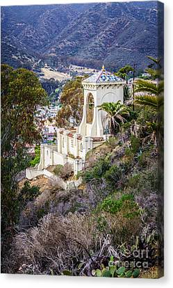 Chimes Canvas Print - Catalina Chimes Tower On Catalina Island by Paul Velgos