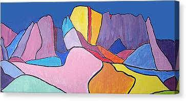 Canvas Print featuring the painting Catalina Fugue by Mordecai Colodner
