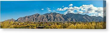 Canvas Print featuring the photograph Catalina Mountain Panorama by Dan McManus