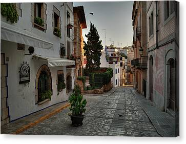 Canvas Print featuring the photograph Catalonia - The Town Of Sitges 003 by Lance Vaughn