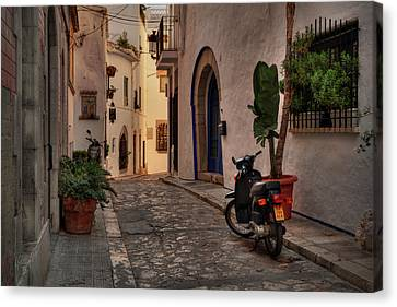 Catalonia - The Town Of Sitges 004 Canvas Print by Lance Vaughn
