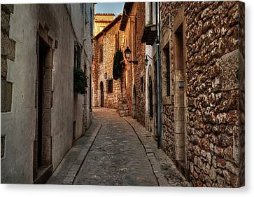 Canvas Print featuring the photograph Catalonia - The Town Of Sitges 006 by Lance Vaughn