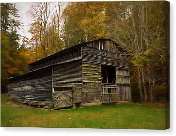 Cataloochee Valley Barn Canvas Print by Jonas Wingfield