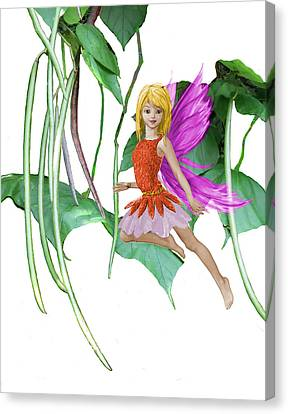 Catalpa Tree Fairy Among The Seed Pods Canvas Print