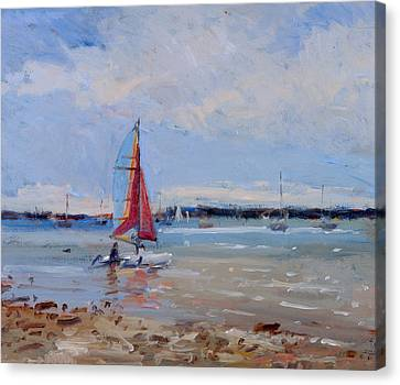 Catamaran  Brittany Canvas Print by Christopher Glanville
