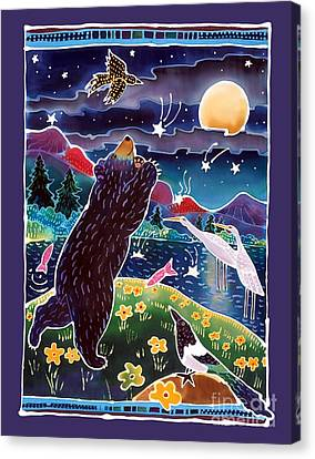 Magpies Canvas Print - Catch A Shooting Star by Harriet Peck Taylor