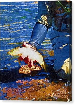 Catch And Release Canvas Print by Diane E Berry