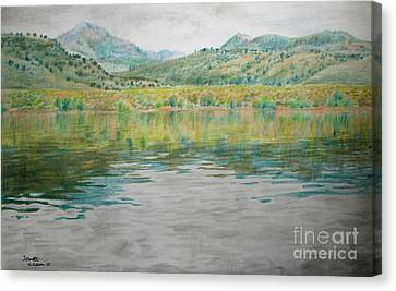 Catch And Release Reflections  Canvas Print by Jeanette Skeem