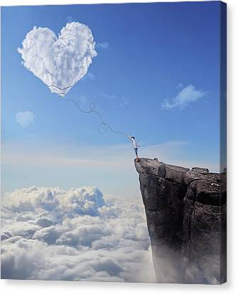 Catch The Heart Canvas Print by Psycho Shadow