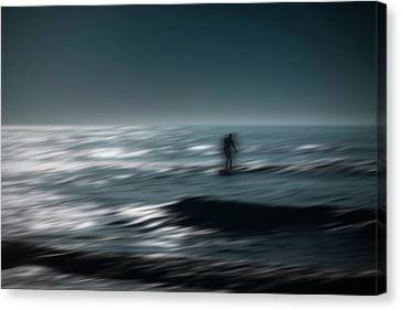 Catching A Wave Canvas Print by Eduard Moldoveanu