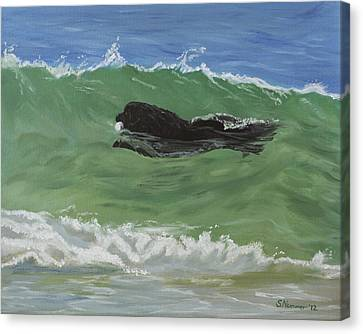 Catching A Wave Canvas Print by Sharon Nummer