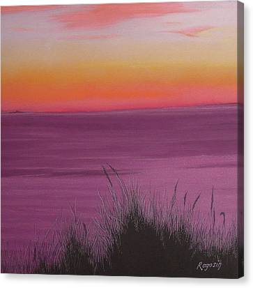 Catching The Mood At Cape Cod Bay Canvas Print by Harvey Rogosin