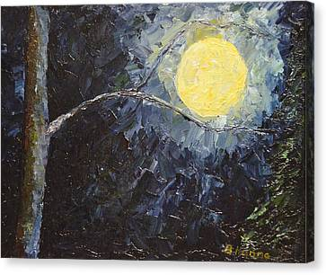 Catching The Moon Canvas Print