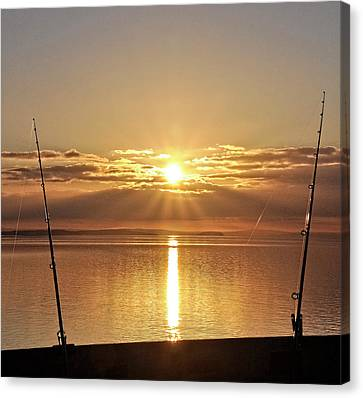 Catching ....the Sun Canvas Print by Alex Hardie