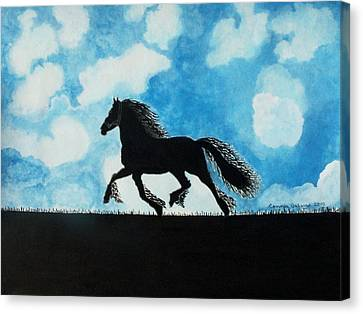 Catching The Wind Canvas Print by Connie Valasco