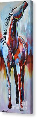 Canvas Print featuring the painting Catching Wind by Cher Devereaux