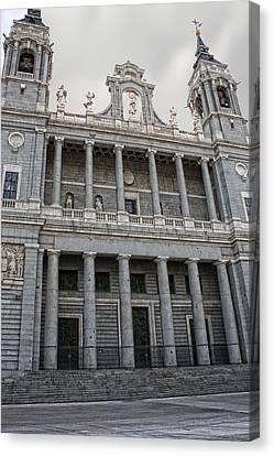 Canvas Print featuring the photograph Catedral De La Almudena 2 by Angel Jesus De la Fuente
