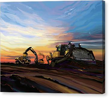 Caterpillars In The Field Canvas Print