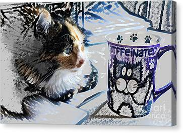 Catfinated Kitty Canvas Print