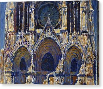 Canvas Print featuring the painting Cathedral 1 by Valeriy Mavlo