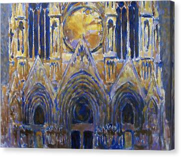 Canvas Print featuring the painting Cathedral 2 by Valeriy Mavlo