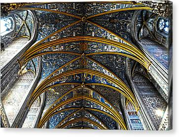 Cathedral Albi Canvas Print by Thomas M Pikolin