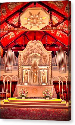 Cathedral Basilica Of St. Augustine Canvas Print by Rich Leighton
