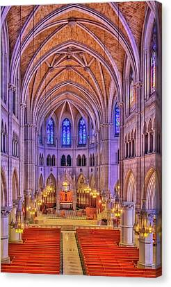Canvas Print featuring the photograph Cathedral Basilica Of The Sacred Heart Newark Nj II by Susan Candelario