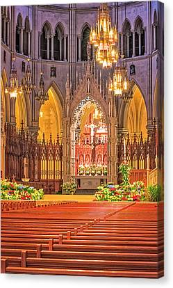 Canvas Print featuring the photograph Cathedral Basilica Of The Sacred Heart Newark Nj by Susan Candelario