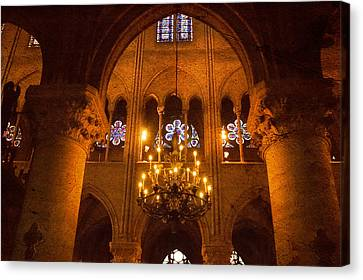 Cathedral Chandelier Canvas Print by Mick Burkey