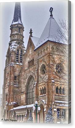 Cathedral Christmas Canvas Print by Mike Griffiths