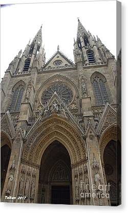 Cathedral In Paris By Taikan Canvas Print