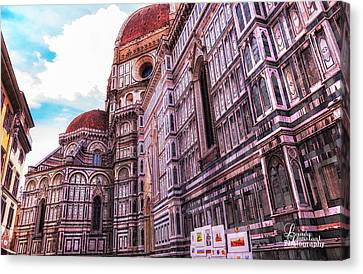 Canvas Print featuring the photograph Cathedral In Rome by Linda Constant