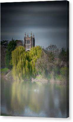 Cathedral In The Mist Canvas Print