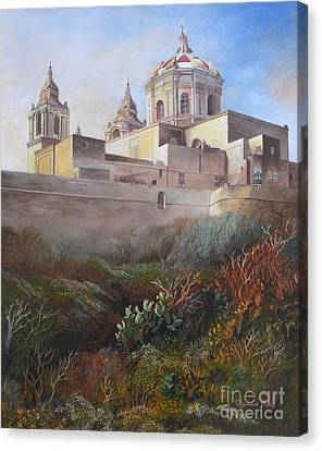 Cathedral Mdina Canvas Print by Raymond Frans