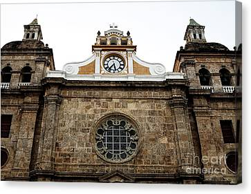 Cathedral Of Cartagena Canvas Print by John Rizzuto