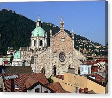 Cathedral Of Como Canvas Print by Lia Attelram