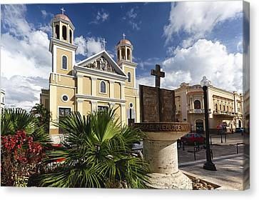 Puerto Rico Canvas Print - Cathedral Of Mayaguez by George Oze