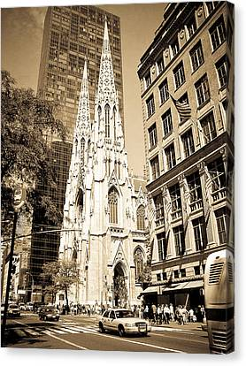 Cathedral Of Saint Patrick Canvas Print