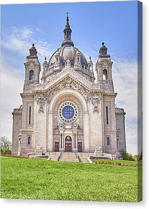 Cathedral Of Saint Paul, In St. Paul Minnestoa Canvas Print by Jim Hughes