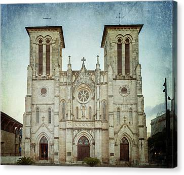 Cathedral Of San Fernando Canvas Print by Joan Carroll