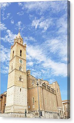 Cathedral Of San Giustino In Chieti In Italy Canvas Print by Angelo D'Amico