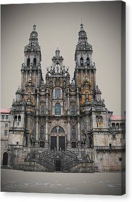 Christian Sacred Canvas Print - Cathedral Of Santiago De Compostela by Jasna Buncic