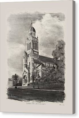 St John The Evangelist Canvas Print - Cathedral Of St John The Evangelist by Ron Landry