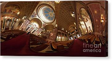 Cathedral Of St. Matthew - A Panoramic View Canvas Print by Irene Abdou