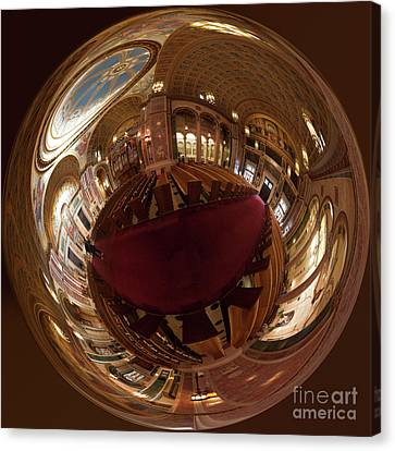 Cathedral Of St. Matthew - The Spherical View Canvas Print by Irene Abdou